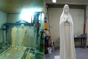 Jezus i Maryja z pianki poliuretanowej