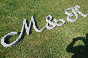 Litery na ślub