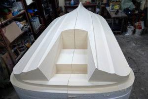 Model do budowy formy kadłuba