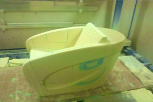 Fotel styrodur CNC