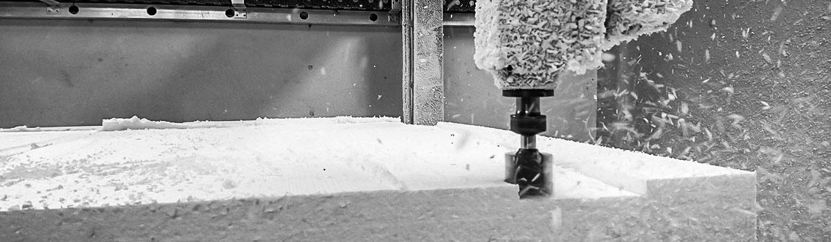 Frezowanie CNC styropianu